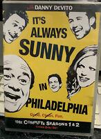 Its Always Sunny in Philadelphia -Seasons 1-2 (DVD, 2009, 3-Disc Set) Brand New