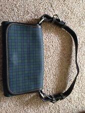 vintage Designer Lauren Ralph Lauren handbag Leather Tartan Shoulder Bag f28e4df34246c