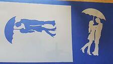 Schablone 381 Päärchen Wandtattoo Wandbilder Stencils Wanddekoration Mylarfolie