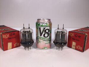 2 Vintage NOS 1943 RCA JAN CRC 829B 2B29 CV2666 Transmitting Tetrode Tube Pair