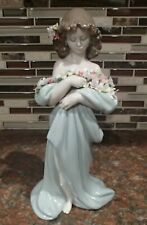 """Lladro 6346 """"Petals of Love"""" woman w armful of colorful flowers - CHIPS, RV$595"""