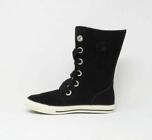 CONVERSE Chuck Taylor Beverly Lace Up X Hi Black Big Girls Youths Juniors Shoes
