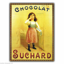 Metal Sign Wall Plaque chocolat Suchard French retro vintage poster ad print