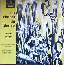yiddish jewish holocaust LP-sarah gorby- songs of the ghetto -made in france