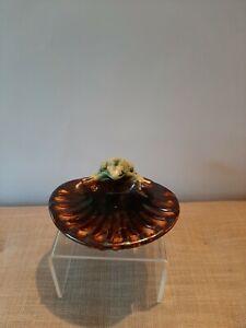 Bendigo pottery soap dish with frog decoration