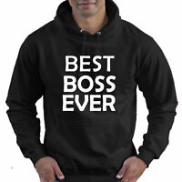 Best Boss Ever Funny Gift Childrens Childs Kids Boys Girls Hoodie Hooded Top
