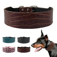 PU Leather Pet Dog Collars Solid Color Medium Large Dog Collar Black Brown Pink