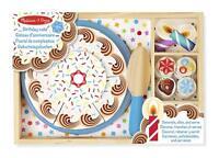 Melissa & Doug Bois Anniversaire Gâteau Jeu Nourriture 34 Pièce Bois Set de Jeux