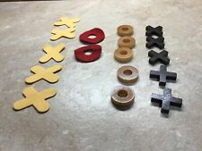 Longaberger Basket Wooden Tic Tac Toe Replacement Pieces, Both Wood And Felt