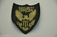 SECURITY OFFICER US EAGLE Embroidered SEW ON  Cloth Patch Badge Jacket Uniform G