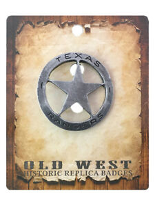Anstecker Pin Sheriffstern Texas Rangers Historische Nachbildung Made in USA