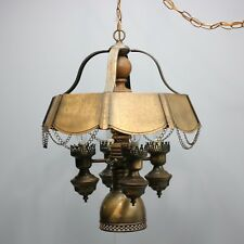 "Vintage 22"" Gothic Medieval Bronze Ceiling Chandelier Lamp Hanging Castle Light"