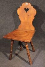 Stuhl  bäuerlicher Brettstuhl Biedermeier Weichholz  #2058