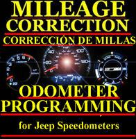 Jeep Speedometer Instrument Gauge Cluster Mileage Odometer PROGRAMMING