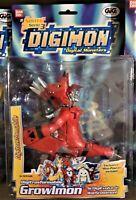 NEW!!! 2002 Bandai Digimon Digivolving Growlmon Limited Edition  Action Figure