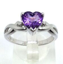 Solitaire with Accents Amethyst Fine Rings