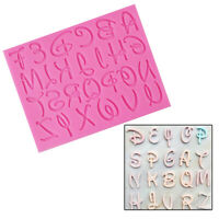 Alphabet Letter Number Silicone Chocolate Mould Cake Baking Mold Decor Tool DIY