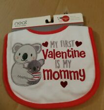 Nwt Baby Bib My First Valentine Is My Mommy White Red Neat Solutions
