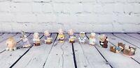 Lot of 11 Vintage Mini Figurines, Owls, Mice, Pigs, Bed, Cinderella, Chef, Bunny