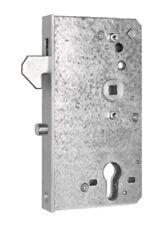 Schiebetorschloss - Hakenschloss mit Schlosskasten, verzinkt, 40 mm breit  #1803
