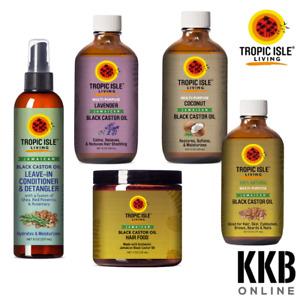 Tropic Isle Living Natural Jamaican Black Castor Oil for Hair Skin Treatment