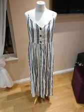 H&M Women's Strap White Linen Dress size uk14