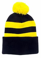 Black and Yellow Traditional Style Bobble Hat - Burton Albion, Cambridge United