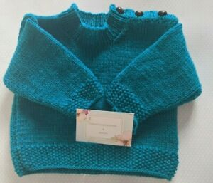 Hand knitted  baby's Jumper 3-6 months