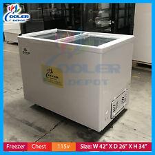 Gelato showcase Hard Ice Cream Commercial Chest Freezer Case Display Nsf New