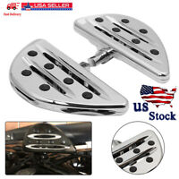 CNC Chrome Edge Cut Male Mount Foot Pegs Floorboards For Harley Softail 883 1200