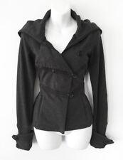 $168 LULULEMON Charcoal Knit Zip & Button Cowl Neck Fleece JACKET * 4 / S