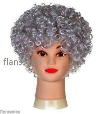 Ladies Granny Perm Grey Short Curly Old Lady Wig Fancy Dress Costume Outfit .