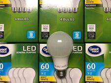96 PACK LED 60W = 9W Soft White 60 Watt Equivalent A19 2700K E26 light bulb