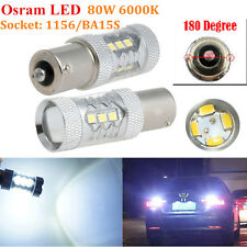 2x HID White 80W 1156 BA15S P21W LED Bulbs Car Backup Reverse Signal Light Lamp