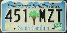 Original Nummernschild USA South Carolina 2004 plaque d'immatriculation TARGA
