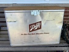 vtg Schlitz Beer Metal Al