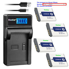 Kastar Battery LCD USB Charger for Sony NP-BD1 NP-FD1 & DSC-T200 Digital Camera
