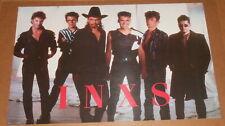 INXS Poster 34x22 RARE Group Shot Vintage