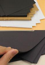 20x BLACK Blank Kraft Paper Card Bookmark DIY Greeting Card 14.6x9.6cm