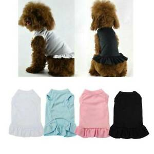 Lovely Cat Dog Ruffle Dress Sleeveless Skirt Teddy VIP Dog Costume Pet Clothes