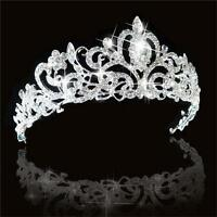 Wedding Bridal Women Lady Jewelry Princess Crown Stunning Crystal Hair Tiara