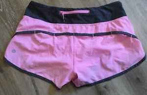 "Lululemon Speed Short *4-way Stretch 2.5""Vintage Pink /Gray Sz 6"
