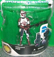 Star Wars The Clone Wars COMMANDER FOX Action Figure - Used
