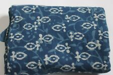 Hand Block Print 10 Yard Fabric, 100% Cotton and Natural Indigo fabric SSTHP44
