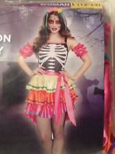 Halloween Costume Skeleton Beauty Womans Size Large 12-14 New