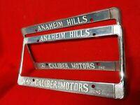 🌊Anaheim Hills Mercedes Benz*Caliber Motors Inc -set of 2 License plate frames