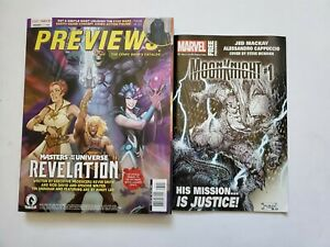 Diamond Previews 393 May 2021 With Marvel Insert Moon Knight He-Man