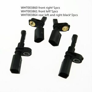 4pcs/set WHT003860 WHT003861 WHT003864 ABS Wheel Speed Sensor for Audi Skoda VW