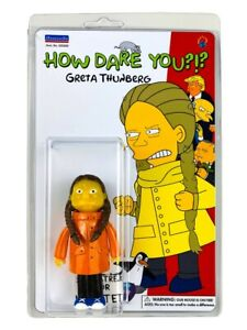SDCC 2020 exclusive GRETA THUNBERG figure HOW DARE YOU figure DKE Toys Simpsons