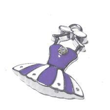 5 pieces 20X24mm Dress Zinc Alloy Enamel Charm Pendants - Purple - A0094